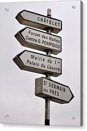 Lost In Paris Acrylic Print by Caroline Reyes-Loughrey