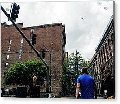 Lost In The Shuffle. St. Louis Street Photography Acrylic Print by Dylan Murphy