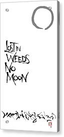 Lost In Weeds, No Moon Acrylic Print