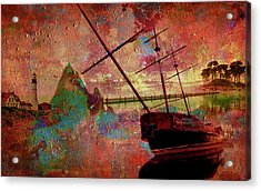 Acrylic Print featuring the digital art Lost Island by Greg Sharpe