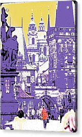 Lost Prague Acrylic Print by Ira Shander