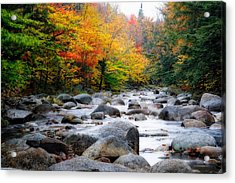 Lost River Gorge At Fall  New Hampshire Acrylic Print by George Oze