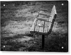 Lost Soles Bench Minimalist Acrylic Print by Terry DeLuco