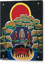 Lost Souls Outside The Spiritual Blood Of The Covenant Acrylic Print by Deidre Firestone