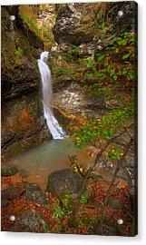 Lost Valley Falls Acrylic Print by Ryan Heffron