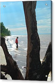 Lost Woman Acrylic Print by Peter Mowry