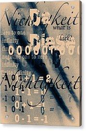 Lost--zero--nothingness Acrylic Print