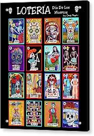 Loteria Dia De Los Muertos Acrylic Print