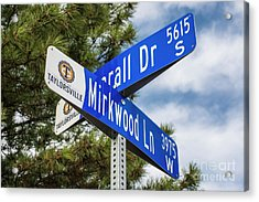 Lotr Mirkwood Street Signs Acrylic Print by Gary Whitton