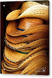 Lots Of Hats Acrylic Print by Mexicolors Art Photography