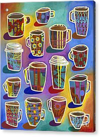 Acrylic Print featuring the painting Lots Of Lattes by Carla Bank
