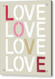 Acrylic Print featuring the mixed media Lots Of Love- Art By Linda Woods by Linda Woods