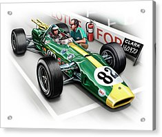 Lotus 38 Indy 500 Winner 1965 Acrylic Print by David Kyte