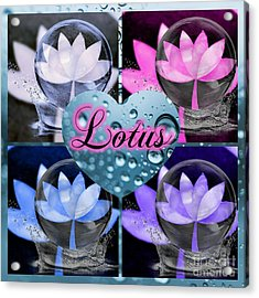 Lotus Collage Acrylic Print