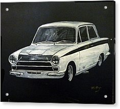 Acrylic Print featuring the painting Lotus Cortina by Richard Le Page