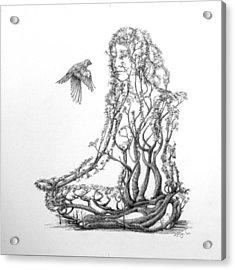 Lotus Dancer Acrylic Print by Mark Johnson