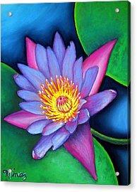 Lotus Divine Acrylic Print by Minaz Jantz