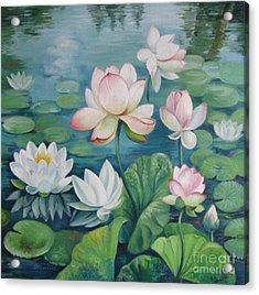 Lotus Flowers Acrylic Print