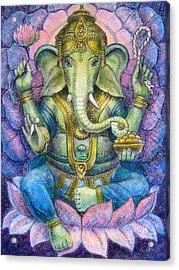 Lotus Ganesha Acrylic Print