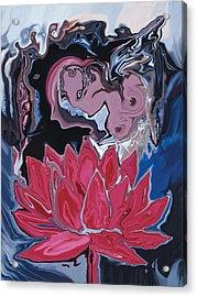 Acrylic Print featuring the digital art Lotus Love by Rabi Khan