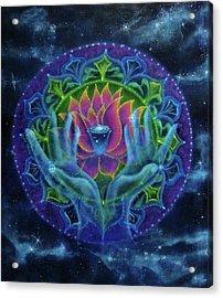 Lotus Of Light Acrylic Print by Deborah Wright