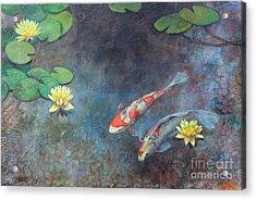 Lotus Pool Acrylic Print by Lori McNee