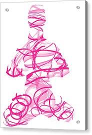 Yoga Pose Asana Lotus Pose Acrylic Print