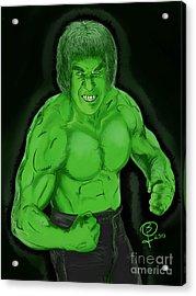 Lou Ferrigno's Hulk Acrylic Print by Joseph Burke