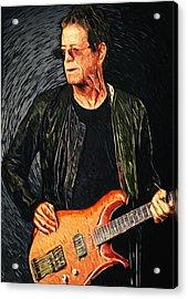 Lou Reed Acrylic Print by Taylan Apukovska