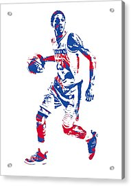Lou Williams Los Angeles Clippers Pixel Art 10 Acrylic Print