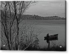 Fishing On Lough Fea Acrylic Print