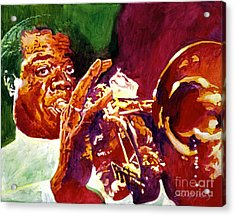 Louis Armstrong Pops Acrylic Print by David Lloyd Glover