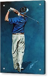 Louis Osthuizen Open Champion 2010 Acrylic Print by Mark Robinson