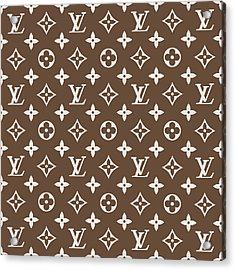 Louis Vuitton Pattern - Lv Pattern 05 - Fashion And Lifestyle Acrylic Print