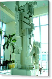 Louise Nevelson Sculpture Acrylic Print