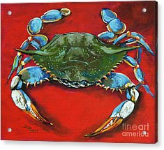 Louisiana Blue On Red Acrylic Print by Dianne Parks