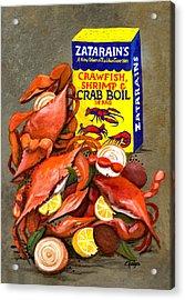Louisiana Boiled Crabs Acrylic Print