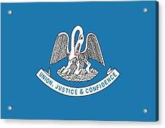 Louisiana State Flag Acrylic Print