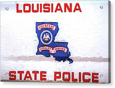 Louisiana State Police Acrylic Print by JC Findley