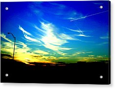Louisiana Sunset Acrylic Print by Chris Hung