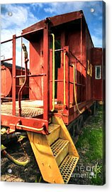 Louisville And Nashville Red Caboose Acrylic Print