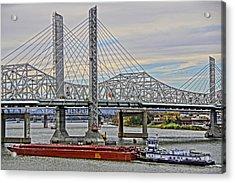 Louisville Bridges Acrylic Print by Dennis Cox WorldViews