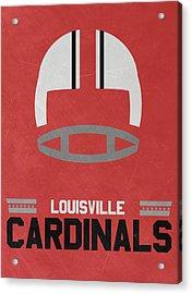 Louisville Cardinals Vintage Football Art Acrylic Print