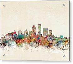 Louisville City Skyline Acrylic Print