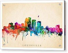 Louisville Cityscape  Acrylic Print
