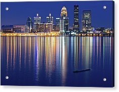 Louisville During Blue Hour Acrylic Print by Frozen in Time Fine Art Photography