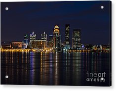 Acrylic Print featuring the photograph Louisville Skyline by Andrea Silies
