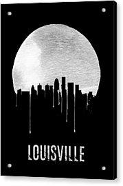 Louisville Skyline Black Acrylic Print
