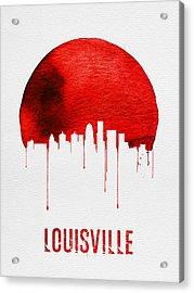 Louisville Skyline Red Acrylic Print