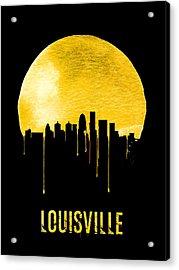 Louisville Skyline Yellow Acrylic Print